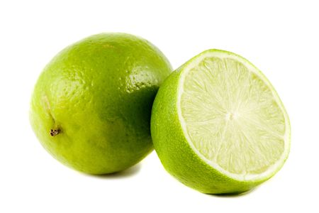 Lime fruits isolated on white background Stock Photo
