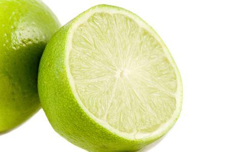 Lime fruits isolated on white background photo