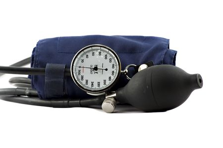 systole: Device used to check the blood-pressure isolated on white Stock Photo