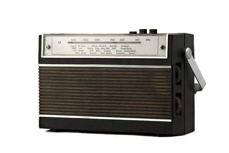Old fashion retro style radio isolated on white background Stock Photo