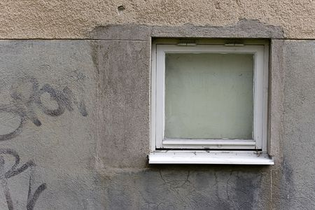 Grungy concrete texture with window Stock Photo