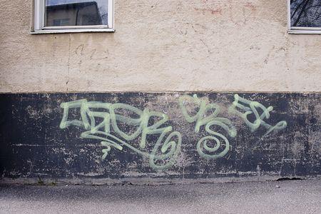 Grungy concrete texture with grafitti