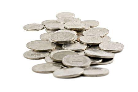 Swedish coins isolated on white background Stock Photo