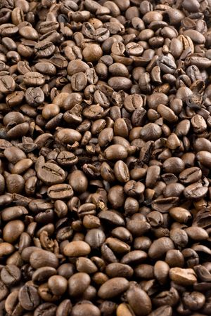 Nice brown Coffee beans as a background Stock Photo