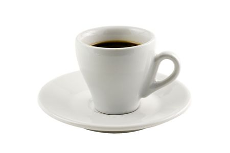 Classic espresso cup isolated on white background Stock Photo