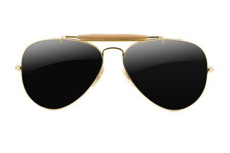 eyewear glasses: sunglasses aviator style isolated on white Stock Photo