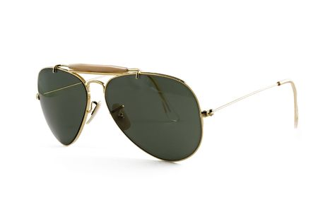 sunglasses aviator style isolated on white Stock Photo