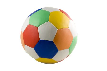 colorful soccer ball isolated on white background Stock Photo