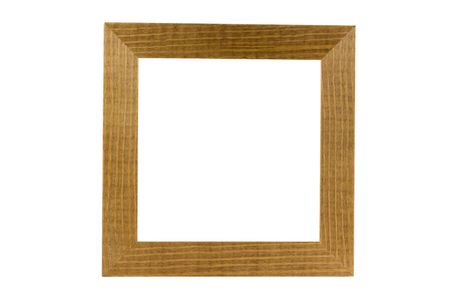 simple wood frame isolated on white Stock Photo