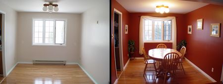 Dining Room Before and after Stock Photo - 246751