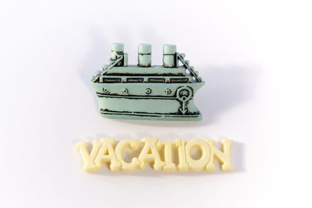 Word Vacation with boat Stock Photo - 251501