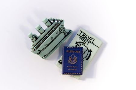 Traveling by boat with ticket and passport Stock Photo - 251510