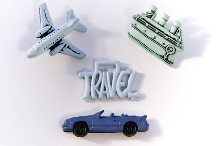 Word Travel with boat, Plane and Car Stock Photo - 251511