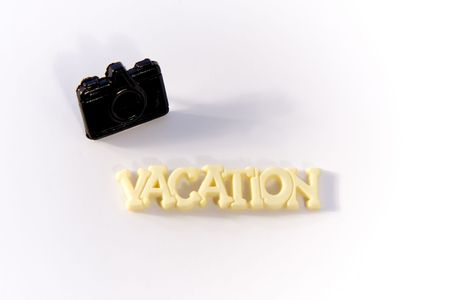 Word Vacation with Camera Stock Photo - 251476