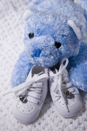 Pair of  shoes with Teddy Bear Stock Photo - 251517
