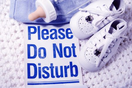 stuff with a please do not disturb sign