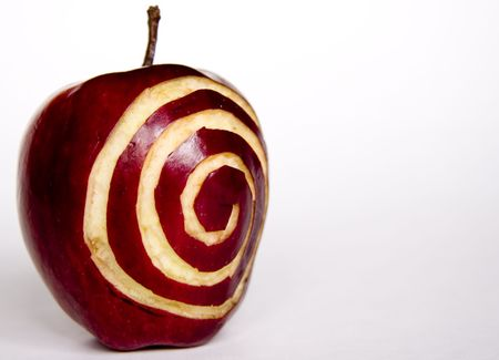 Apple with Spiral on it