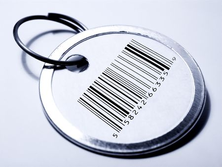 Tag with Bar Code Stock Photo