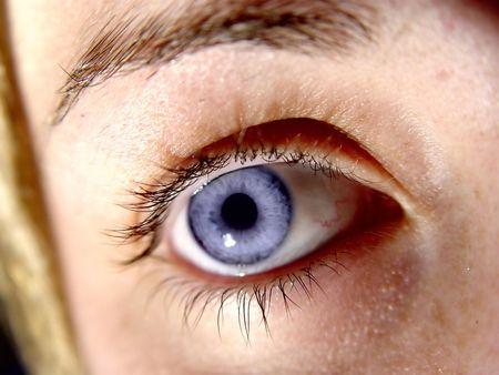 青い目のクローズ アップ
