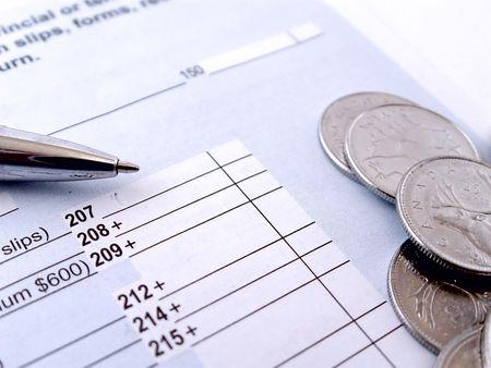 renta: Impuesto sobre la Renta Tiempo Foto de archivo