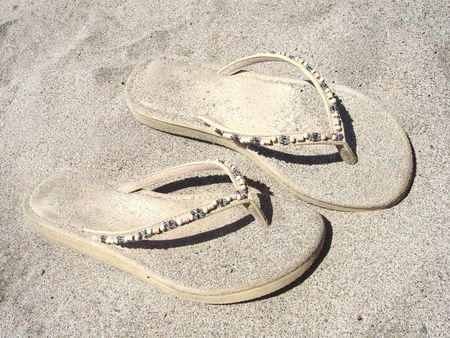 sandels: Closeup of Sandles Stock Photo