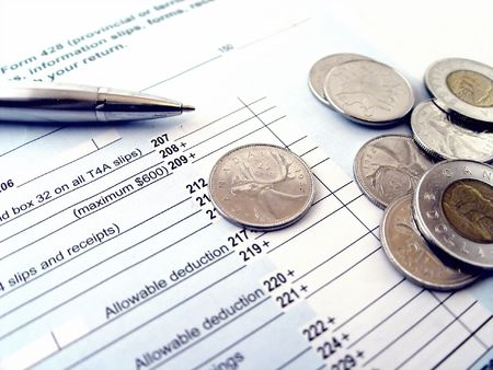 Inkomstenbelasting keer Stockfoto