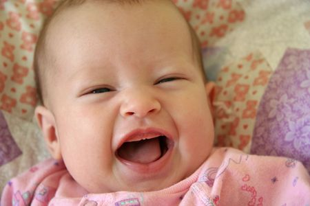 Little Baby Girl laughing Stock Photo - 444468