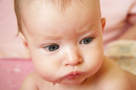 Closeup of Baby's face Stock Photo - 633962