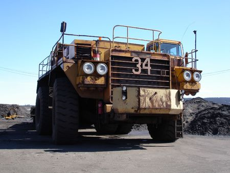 haul: Big Haul Truck in mine front on