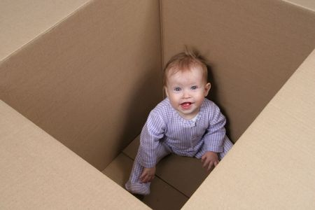 Baby in box ready to be shipped Stock Photo - 645888