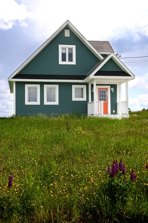 rural area: A Modern Home in a Rural Area Stock Photo