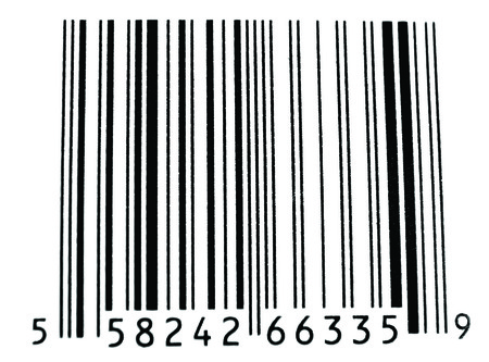 BarCode isolated on white Stok Fotoğraf