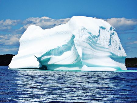Ice Berg in Ocean off Newfoundland Stock Photo
