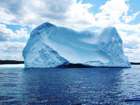 Iceberg in Atlantic Ocean off Newfoundland  Stock Photo - 6354373