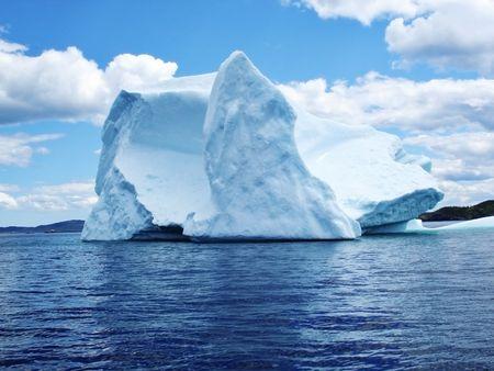 Iceberg in Atlantic Ocean off Newfoundland  스톡 콘텐츠