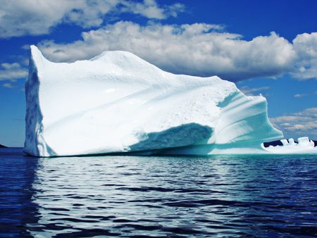 icescape: Ice Berg in Ocean off Newfoundland Stock Photo