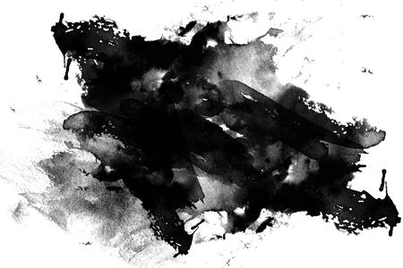 Abstract color paint brushed effect on white background Foto de archivo