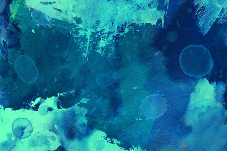 Blue and green Abstract grunge brushed background Stock Photo