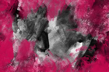 Pink grunge paint, great for a background Stock Photo