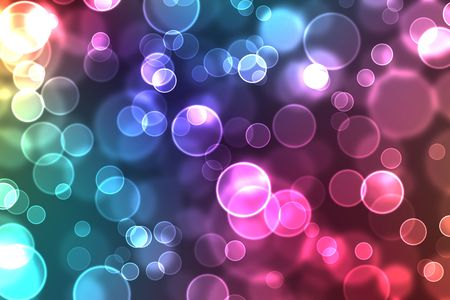 abstract glowing circles on a colorful background Standard-Bild