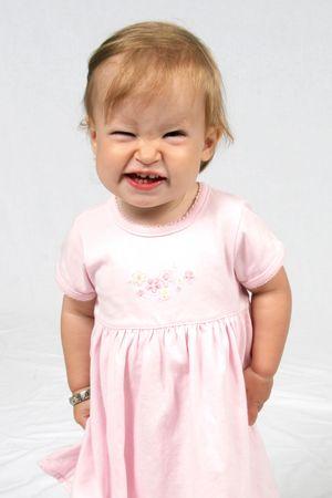 Little Baby Girl in pink dress Reklamní fotografie