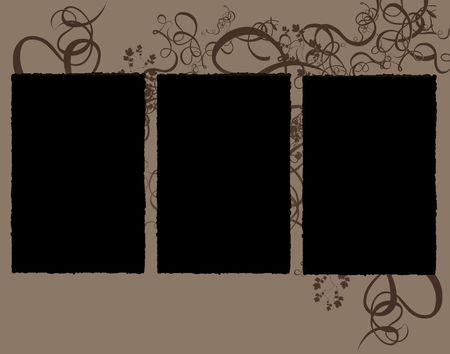 storyboard: Abstract Floral storyboard with three frames