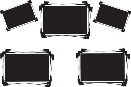 Verzameling van lege foto's met fotohoeken
