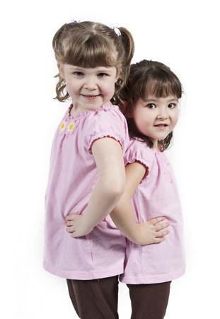 bambine gemelle: Gemelle in piedi insieme