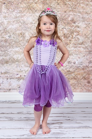 Little girl Dressed as Princess for halloween photo