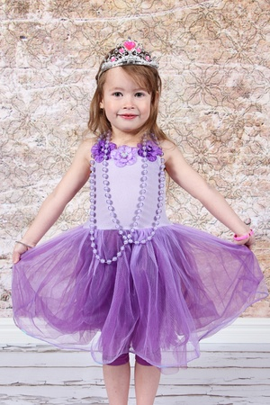 Little girl Dressed at Princess for halloween photo