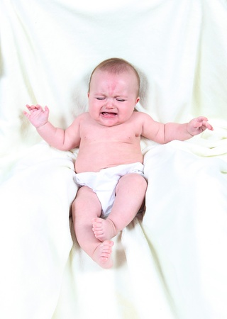 Little Baby Crying Stock Photo - 12025849