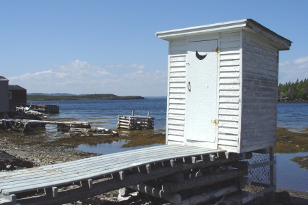 outhouse: Old Fashion Outhouse by the ocean
