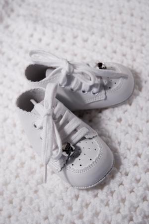 Pair of Babies first shoes Reklamní fotografie