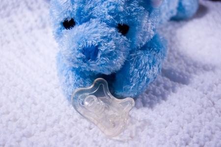 baby's dummies: Teddy Bear with dummy